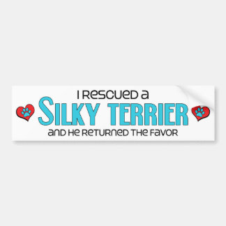 I Rescued a Silky Terrier (Male Dog) Bumper Stickers