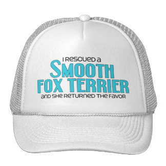 I Rescued a Smooth Fox Terrier (Female Dog) Trucker Hat