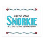 I Rescued a Snorkie (Female) Dog Adoption Design Postcards