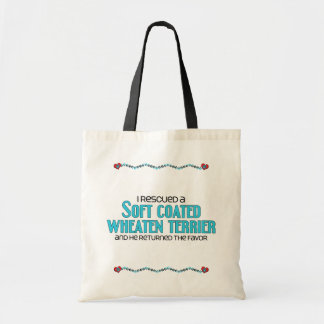 I Rescued a Soft Coated Wheaten Terrier (Male Dog) Budget Tote Bag