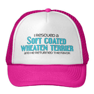 I Rescued a Soft Coated Wheaten Terrier Male Dog Hats