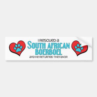 I Rescued a South African Boerboel (Male Dog) Car Bumper Sticker