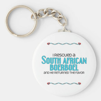 I Rescued a South African Boerboel (Male Dog) Basic Round Button Key Ring