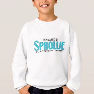I Rescued a Sprollie (Female) Dog Adoption Design Sweatshirt