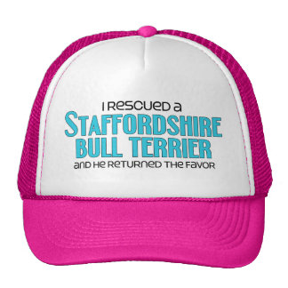 I Rescued a Staffordshire Bull Terrier (Male Dog) Cap