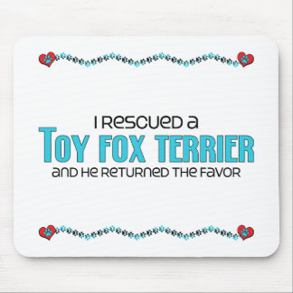 I Rescued a Toy Fox Terrier (Male Dog) Mouse Pads