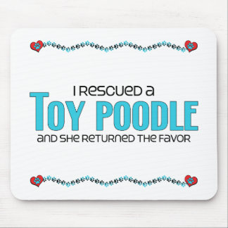 I Rescued a Toy Poodle (Female Dog) Mouse Pad