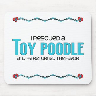 I Rescued a Toy Poodle Male Dog Mousepad