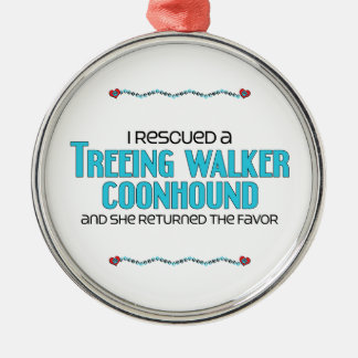 I Rescued a Treeing Walker Coonhound (Female Dog) Christmas Ornament