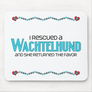 I Rescued a Wachtelhund (Female Dog) Mouse Pad