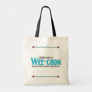 I Rescued a Wee-Chon (Female) Dog Adoption Design Bags