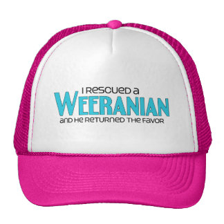 I Rescued a Weeranian (Male) Dog Adoption Design Trucker Hats