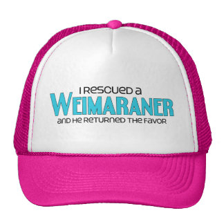 I Rescued a Weimaraner (Male Dog) Cap