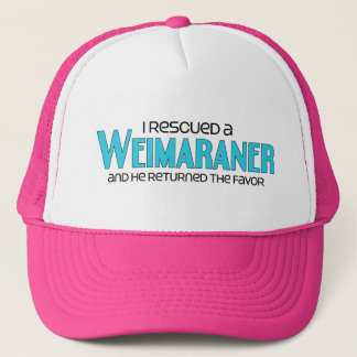 I Rescued a Weimaraner (Male Dog) Trucker Hat