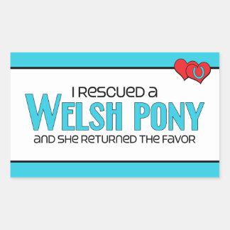 I Rescued a Welsh Pony (Female Pony) Sticker