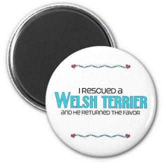 I Rescued a Welsh Terrier (Male Dog) Fridge Magnet