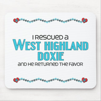 I Rescued a West Highland Doxie (Male Dog) Mouse Pad