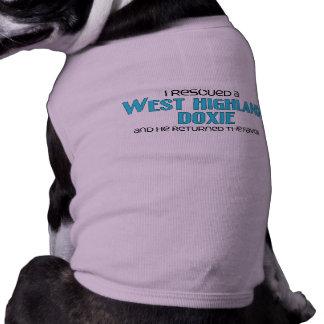 I Rescued a West Highland Doxie (Male Dog) Sleeveless Dog Shirt