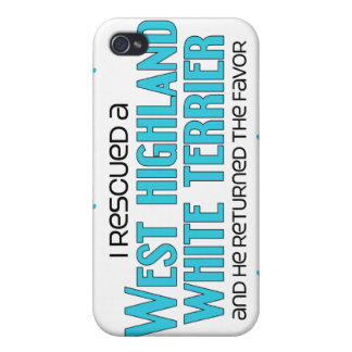 I Rescued a West Highland White Terrier (Male Dog) iPhone 4/4S Cover