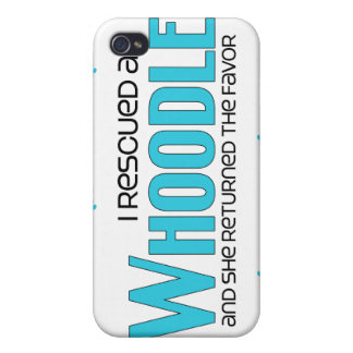 I Rescued a Whoodle (Female) Dog Adoption Design Cases For iPhone 4