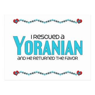 I Rescued a Yoranian (Male) Dog Adoption Design Postcard