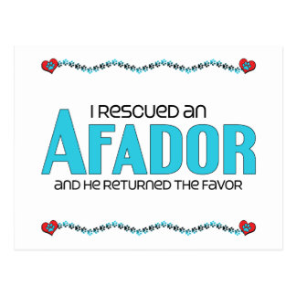 I Rescued an Afador (Male) Dog Adoption Design Postcard