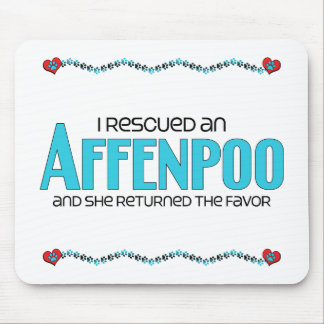 I Rescued an Affenpoo (Female) Dog Adoption Design Mouse Pad