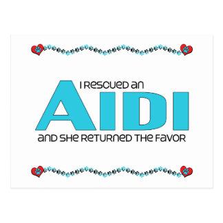 I Rescued an Aidi (Female Dog) Postcard