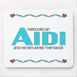 I Rescued an Aidi (Male Dog) Mouse Pad