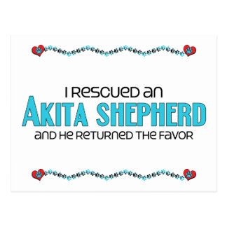 I Rescued an Akita Shepherd (Male) Dog Adoption Postcard