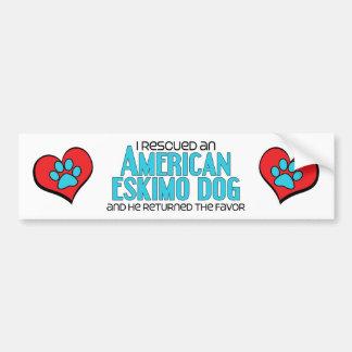 I Rescued an American Eskimo Dog (Male Dog) Bumper Sticker