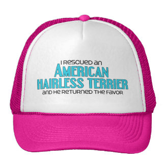 I Rescued an American Hairless Terrier (Male Dog) Cap