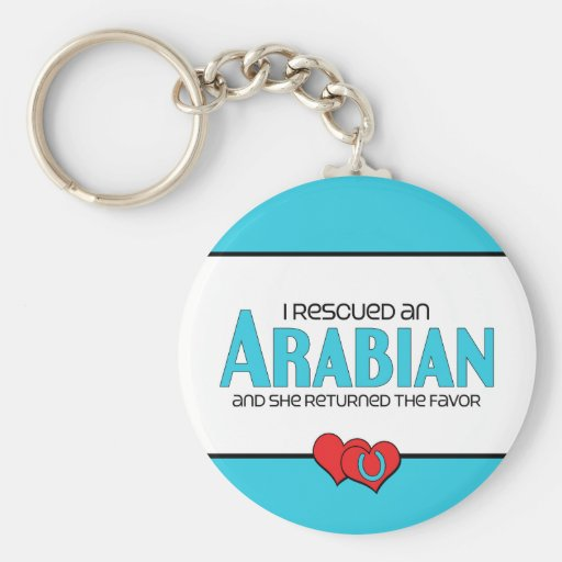 I Rescued an Arabian (Female Horse) Basic Round Button Key Ring