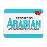 I Rescued an Arabian (Female Horse) Vinyl Magnet