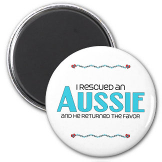 I Rescued an Aussie (Male Dog) Fridge Magnet