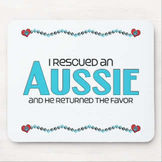 I Rescued an Aussie (Male Dog) Mouse Pads
