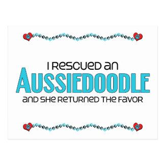 I Rescued an Aussiedoodle (Female) Dog Adoption Postcard