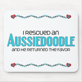 I Rescued an Aussiedoodle (Male) Dog Adoption Mouse Pad