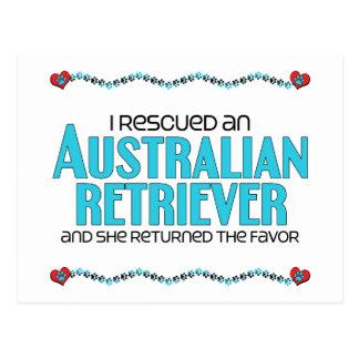 I Rescued an Australian Retriever (Female Dog) Postcard
