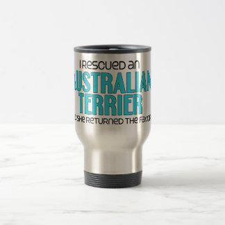 I Rescued an Australian Terrier (Female Dog) Stainless Steel Travel Mug