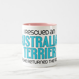 I Rescued an Australian Terrier (Female Dog) Two-Tone Mug