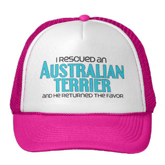 I Rescued an Australian Terrier (Male Dog) Trucker Hat