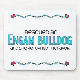 I Rescued an EngAm Bulldog (Female) Dog Adoption Mouse Pad