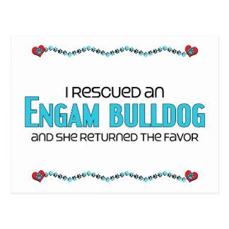 I Rescued an EngAm Bulldog (Female) Dog Adoption Postcard