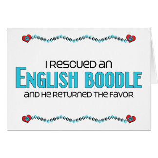 I Rescued an English Boodle (Male) Dog Adoption Greeting Card