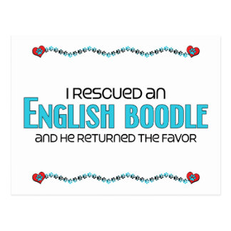 I Rescued an English Boodle (Male) Dog Adoption Postcard