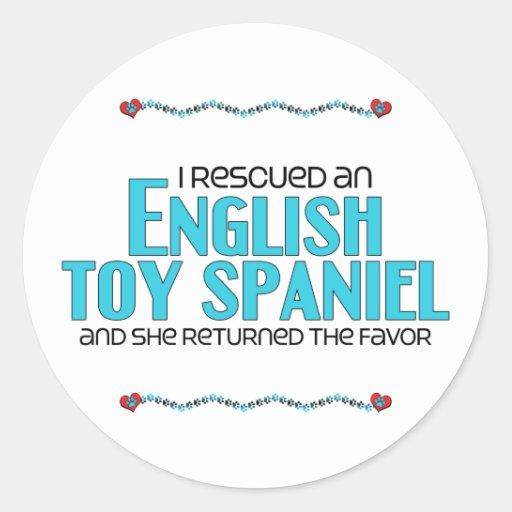 I Rescued an English Toy Spaniel (Female Dog) Sticker