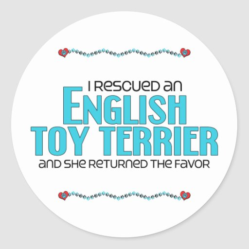 I Rescued an English Toy Terrier (Female Dog) Sticker
