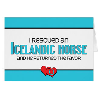 I Rescued an Icelandic Horse (Male Horse) Note Card
