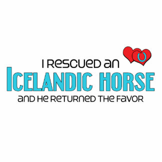 I Rescued an Icelandic Horse (Male Horse) Photo Sculpture Magnet
